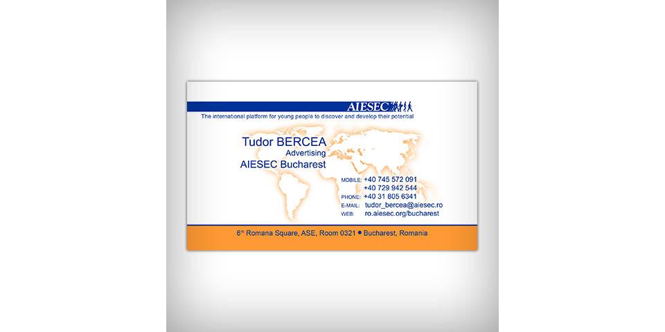 AIESEC Bucharest Business Cards