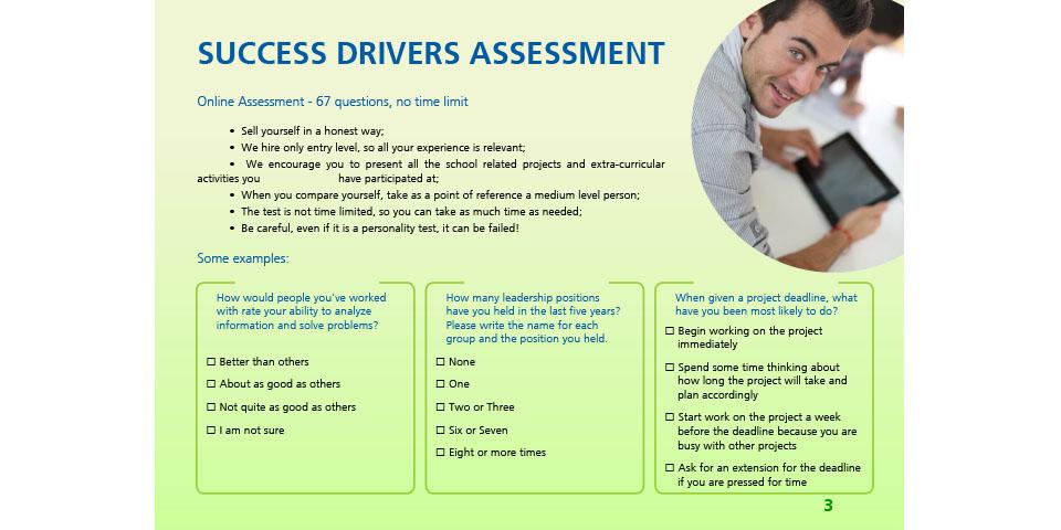 Assessment Tests pentru PnG