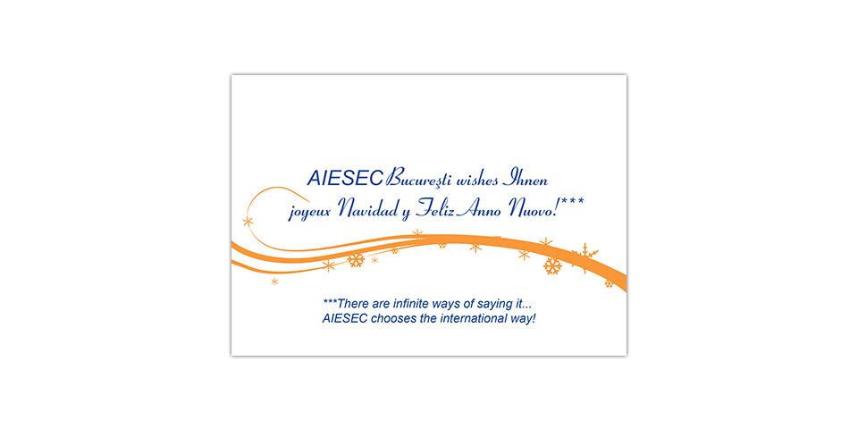 AIESEC Bucharest Christmas Card 2006